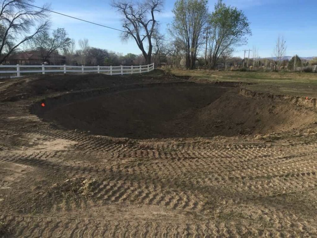 Ground Prep via Excavation